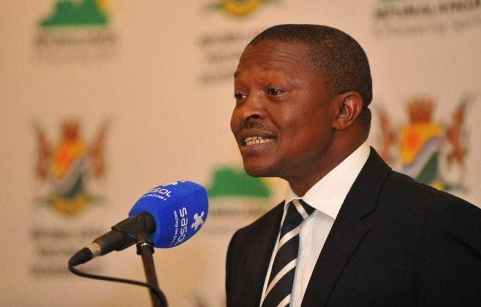 Mpumalanga Premier David Mabuza.