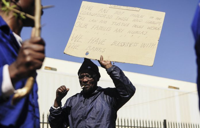 Pay up: Production halted at Gupta-linked VR Laser as workers picketed for their August wages.