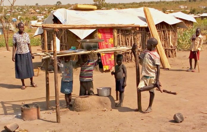 South Sudanese refugee children in northern Uganda