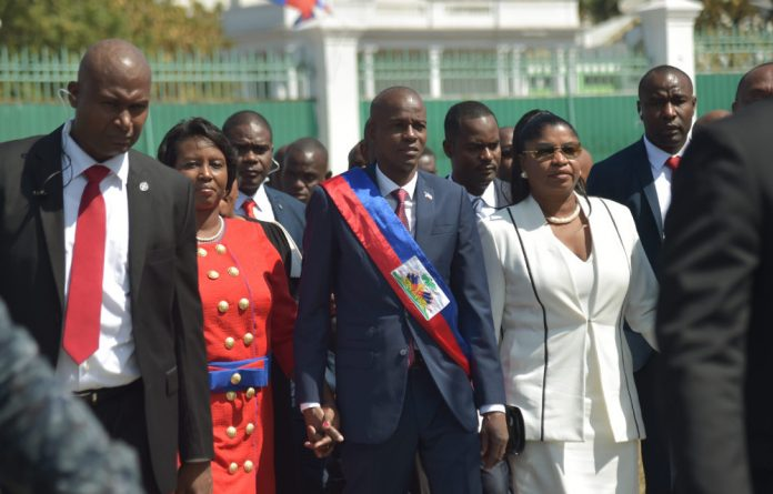 New Haitian President Jovenel Moise arrives at the Te Deum during his inauguration ceremony after receiving his sash in a ceremony at the Haitian Parliament in Port-au-Prince.
