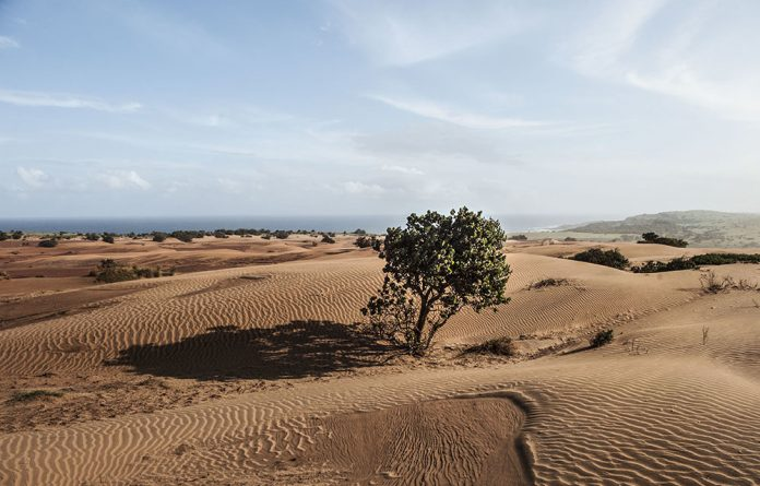 A view of the targeted area for the Xolobeni Mineral Sands project on the Wild Coast.