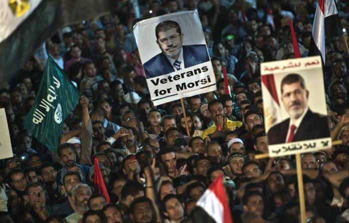 Supporters of ousted president Mohamed Morsi.