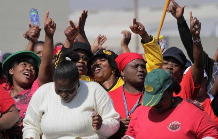 Public-service unions embarked on an indefinite strike on Wednesday after rejecting the government's revised wage offer. The <i></noscript>M&G</i> headed to Thokoza where members of the National Health and Allied Workers' Union were protesting outside the Natalspruit Hospital.