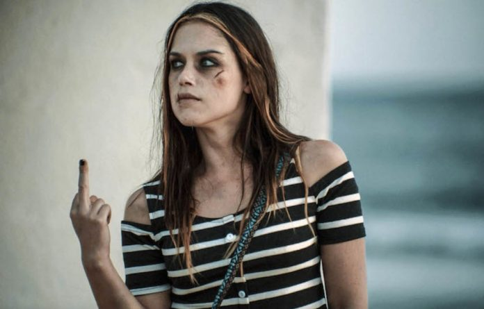 Giving sexual violence the middle finger: Christia Visser in the hard-hitting film Tess
