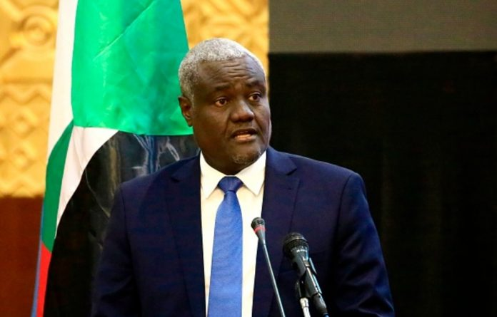 Chairperson of the African Union Commission Moussa Faki Mahamat