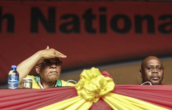 Assessing the workers' mood: President Jacob Zuma with Cosatu president S'dumo Dlamini at the union federation's elective congress in November last year.