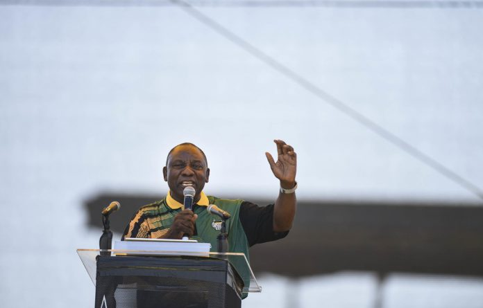 The ANC president says the party