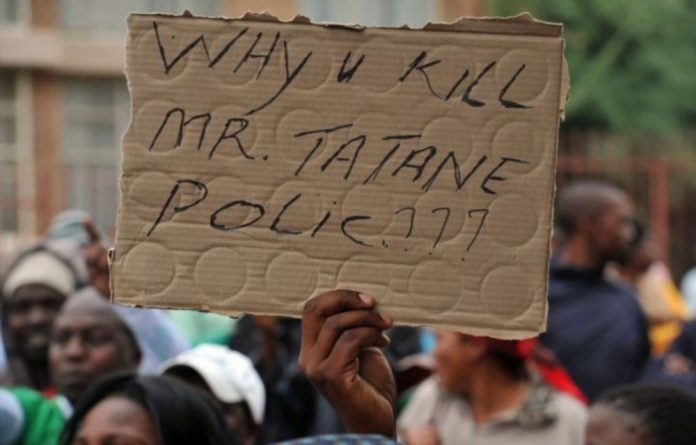 Tatane was killed on April 13 2011
