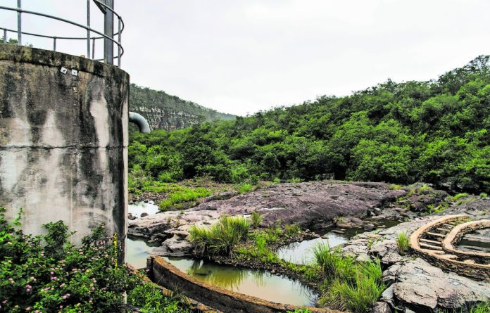 The Qwaninga River that feeds the Qwaninga treatment plant has been reduced to a trickle