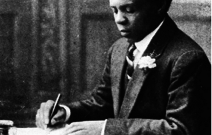 Sol Plaatje at his writing desk taken from his book Native Life in South Africa.