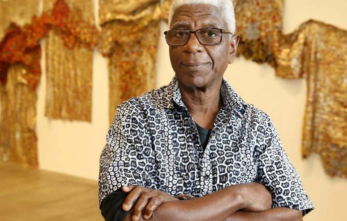 The artist demystified: El Anatsui's latest exhibition includes archival material from his studio.
