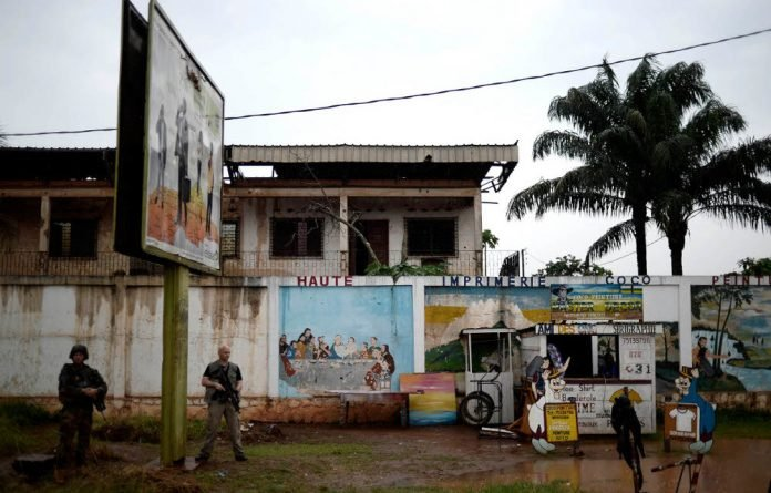 The entrance to the PK5 Muslim area of the Central African Republic capital