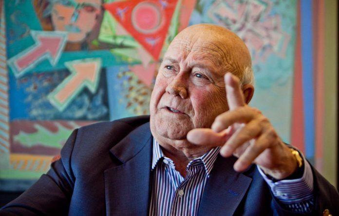 Former president FW de Klerk.