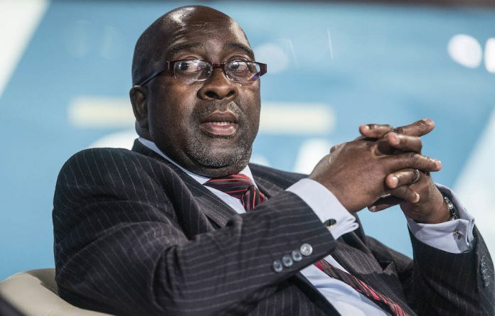 Out: Former finance minister Nhlanhla Nene was replaced by 'Gupta-friendly' Des van Rooyen.