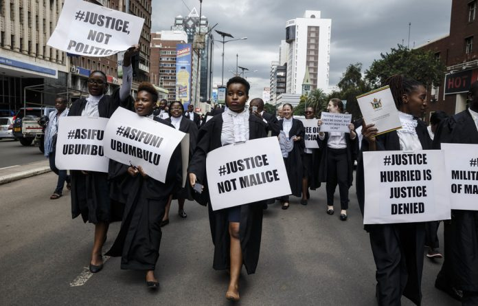 Lawyers of the Law Society of Zimbabwe marched for justice