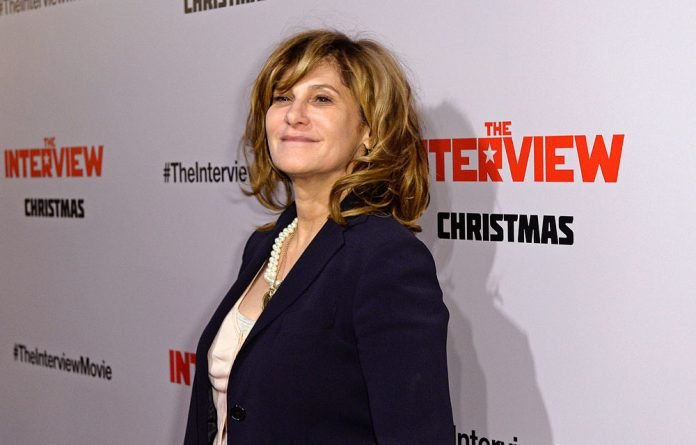 Sony Pictures Entertainment Co-Chairman Amy Pascal poses during the premiere of 'The Interview' in Los Angeles.