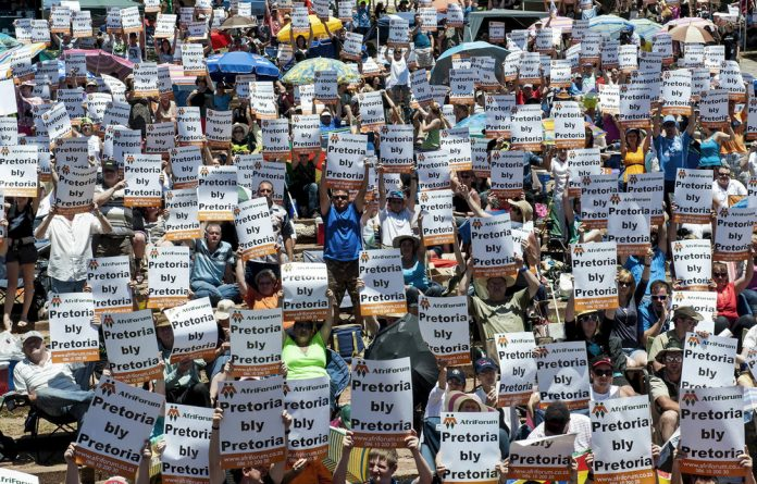 White South Africans protested against changing the name of Pretoria