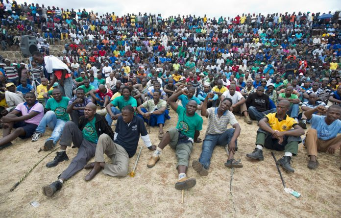 Shafted: Amcu miners' retirement savings have become the latest site of the union's internal struggles