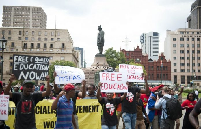 A group of students protesting the National Student Financial Aid Scheme said that it has 'reached its sell by date'.