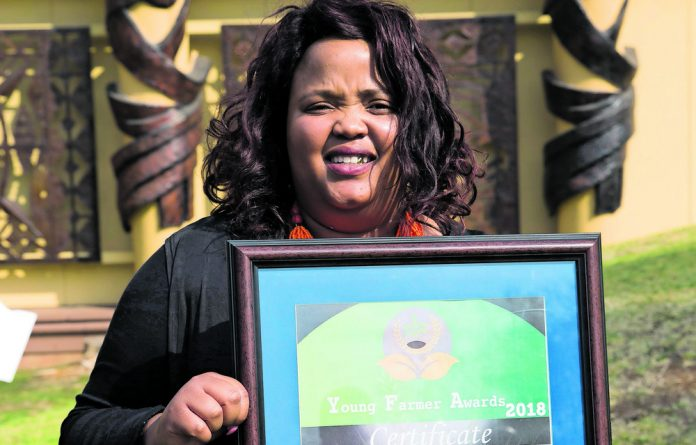 Lerato Senakhomo has been very successful with her maize crops and is the overall winner of the Young Farmers Award.