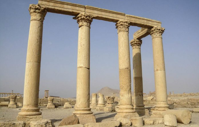 Columns in the historical city of Palmyra