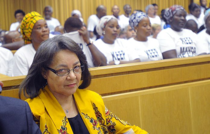 Patricia De Lille has accused her party of attempting to bankrupt her.