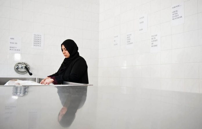 Khadija Patel learnt the traditions of bathing and shrouding a dead body before burial.