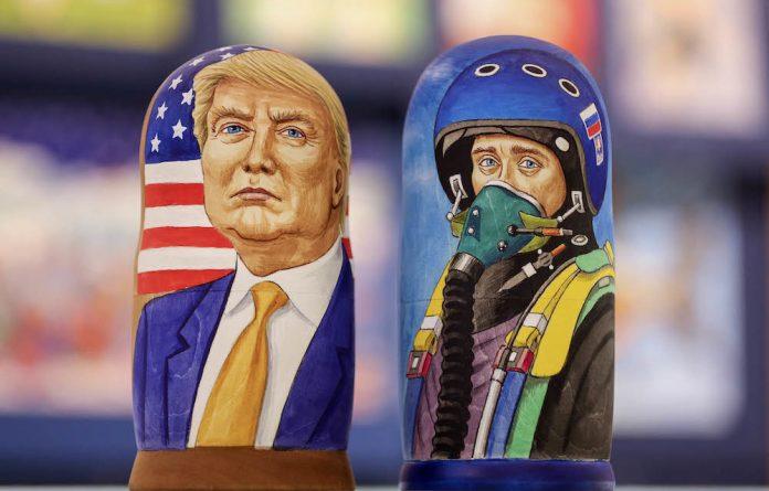 Unholy alliance: Donald Trump and Vladimir Putin are known for their 'big man' politics.