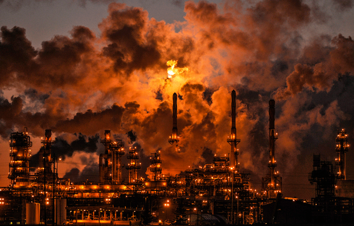 Petro-Canada's Edmonton Refinery. The oil trading industry has had the best year since 2008-2009.