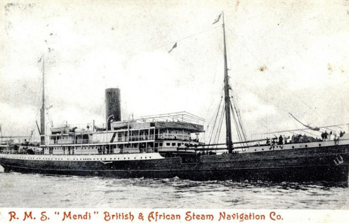 The SS Mendi was built in Glasgow and in prewar days was used as a mail ship. South African Native Labour Corps soldiers trained at Rosebank Camp before heading to Europe's fields of war.
