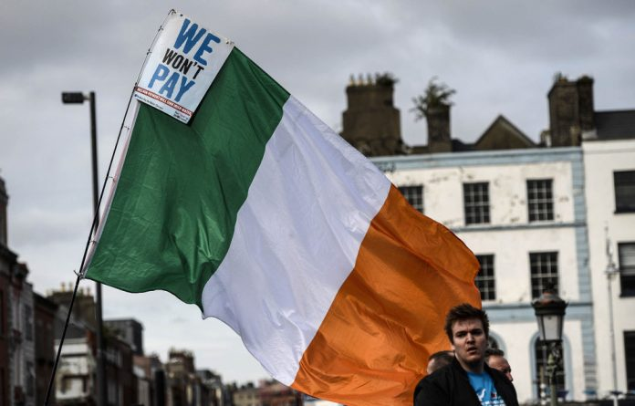 Core issue: Irish demonstrators protesting against household water charges want their government to make Apple pay €13-billion in back taxes.