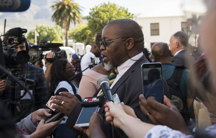 Gwede Mantashe was among other senior ANC members revealed to have accepted similar security upgrades to their homes.