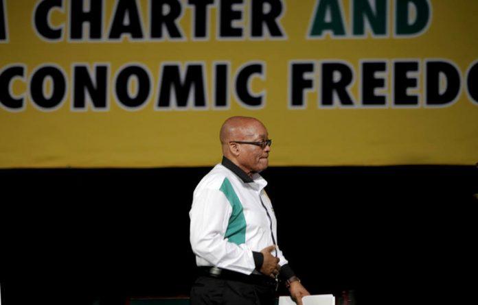 Jacob Zuma closing off the ANC NGC on Sunday.