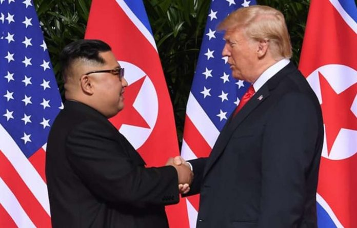 North Korea leader Kim Jong-un and US president Donald Trump.