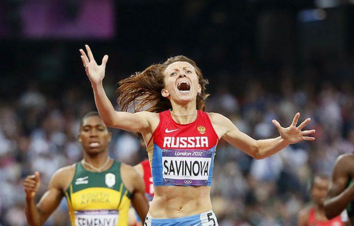 Suspect: Russia's Mariya Savinova wins the 800m at the 2012 Olympics.
