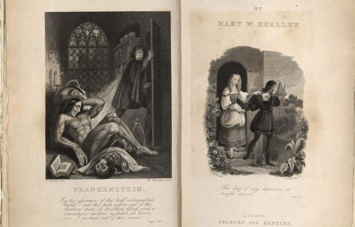 The opening page of Mary Shelley's 'The Modern Prometheus'