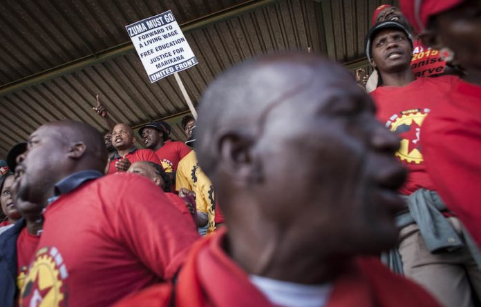 Fresh start: May Day in Tembisa this year. Numsa is going back to Marxist-Leninist theory to establish a party that will abolish capitalism and nationalise 'white monopoly capital'.
