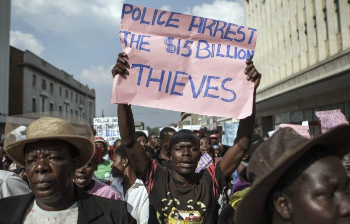 Simmering anger: The year was marked by protests in Zimbabwe. But the brutal state response