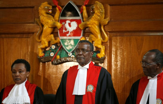Kenya's Supreme Court President and Chief Justice David Maraga