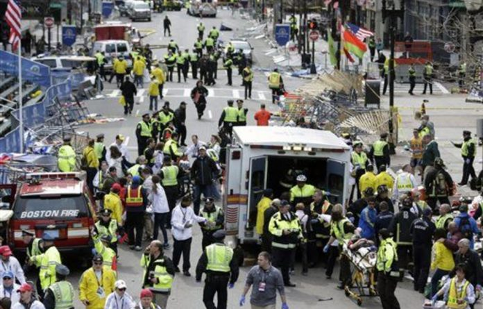Two explosions struck the Boston Marathon as runners crossed the finish line