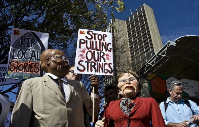 Blocked: In 2009 independent producers marched to the SABC. Now filmmakers are unhappy.