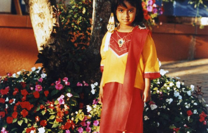 Memories: Youlendree Appasamy ready for her preschool Cultural Day