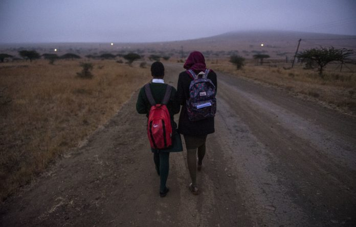 Long walk: Many schoolchildren walk kilometres to school