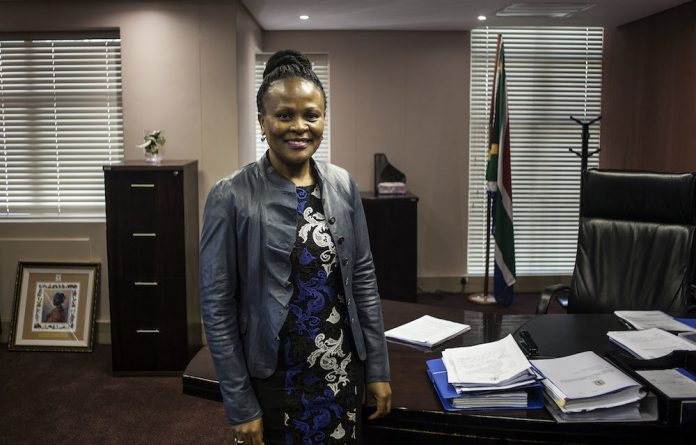 Inflated opinion: Public protector Busisiwe Mkhwebane stands accused of not knowing what she is doing when dealing with inflation targeting.