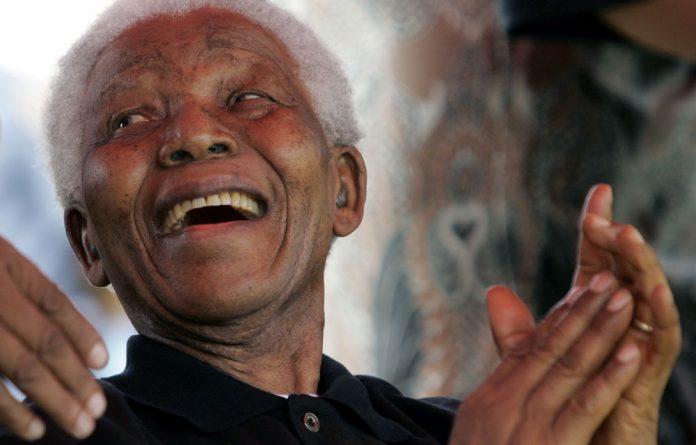 Former South African president Nelson Mandela.
