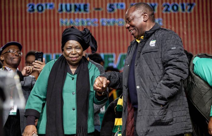 Reaching out: There is a move to accommodate both Nkosazana Dlamini-Zuma and Cyril Ramaphosa in the ANC top six.