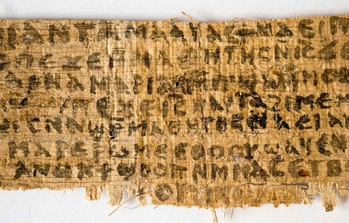 The fragment is believed to have come from Egypt and contains writing in the Coptic language.