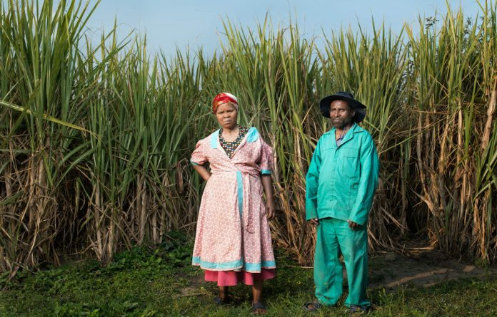 Former miner Masiko Somi and his wife Magumede are part of the class action suit that looks to hold the gold mining industry accountable for its impacts on workers' health.