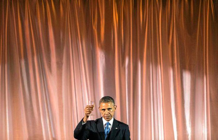 Toasty: President Barack Obama at the US-Africa Leaders Summit.