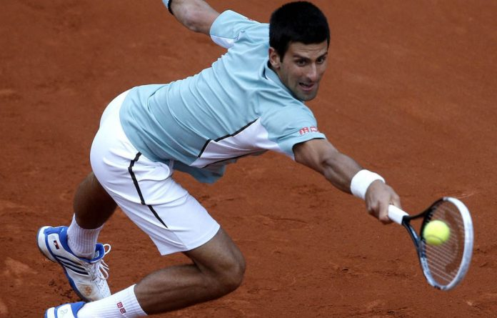 Novak Djokovic on his way to a first-round victory over David Goffin at the French Open this week.